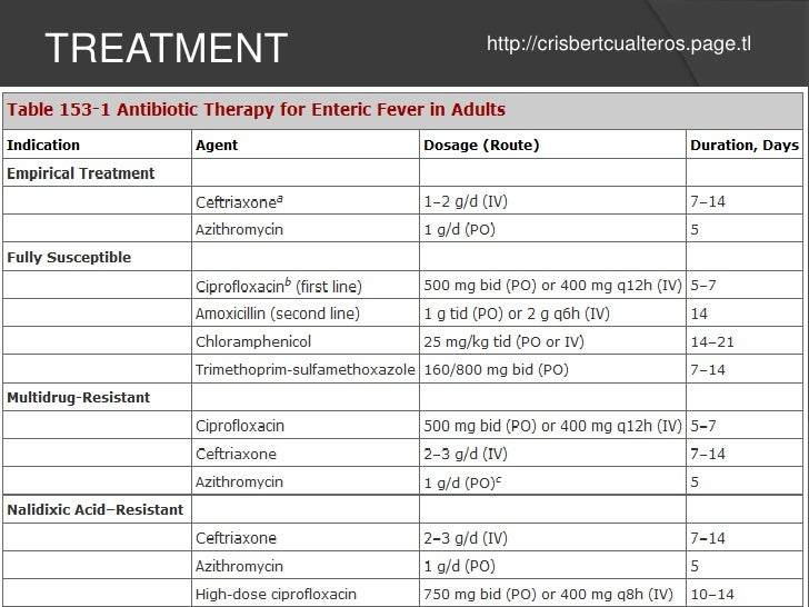 Typhoid Fever Clinical Manifestations Diagnosis