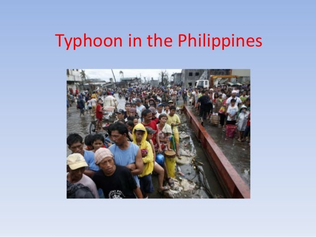 Typhoon in the Philippines