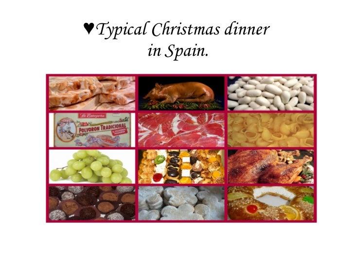 ♥ Typical Christmas dinner  in Spain.