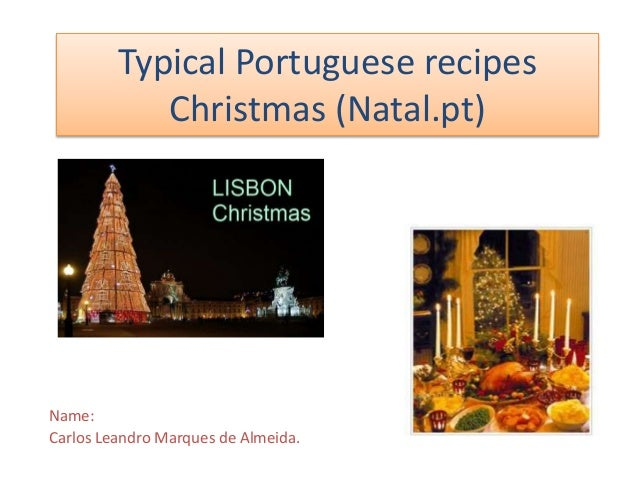 Typical portuguese recipes christmas Leandro