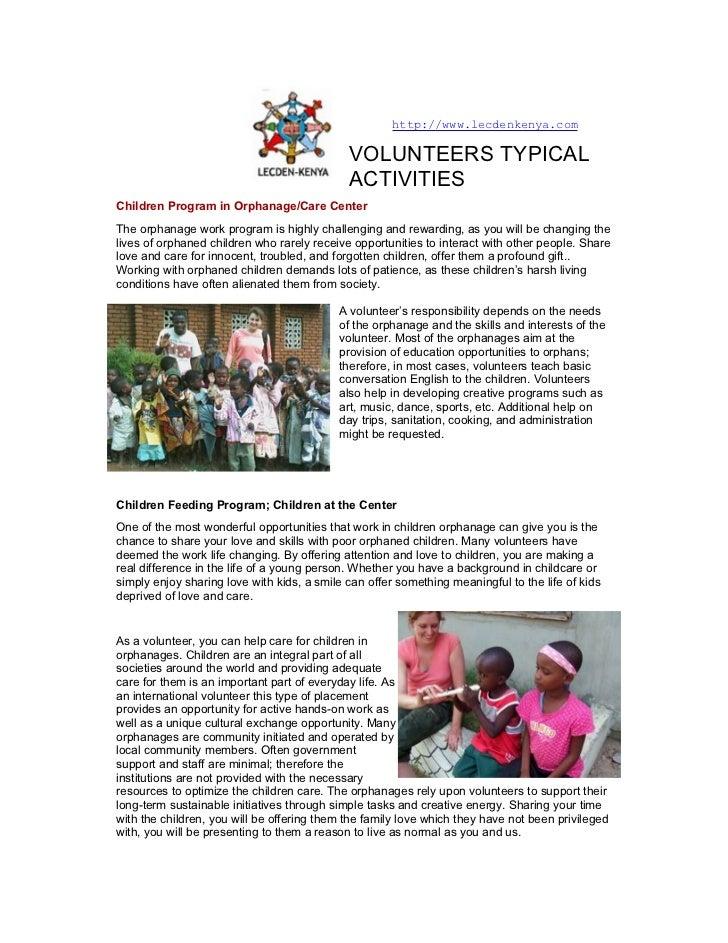 volunteer activities,  Volunteering Projects in Kenya