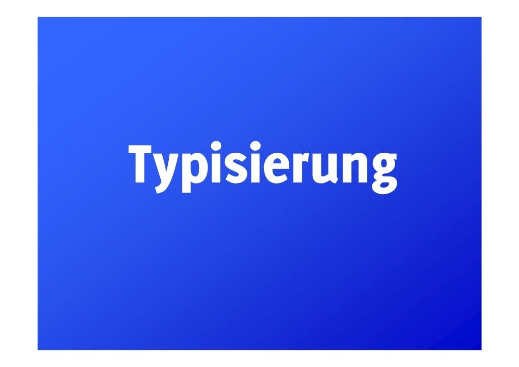 Typisierung