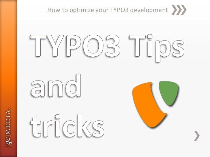 How to optimize your TYPO3 development