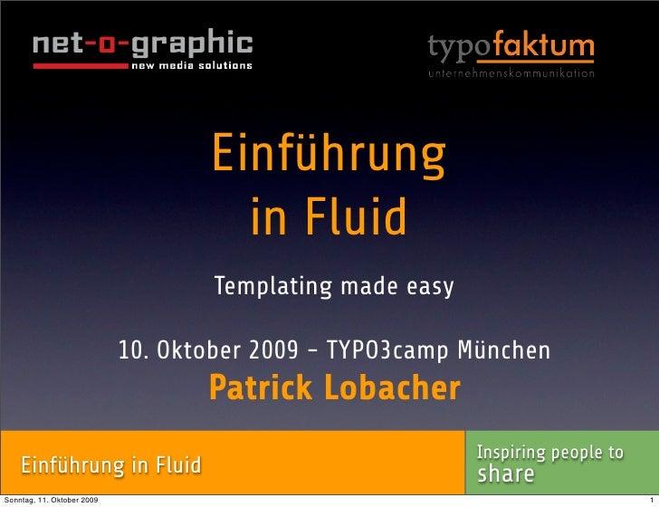 TYPO3camp 2009 - Einführung in Fluid