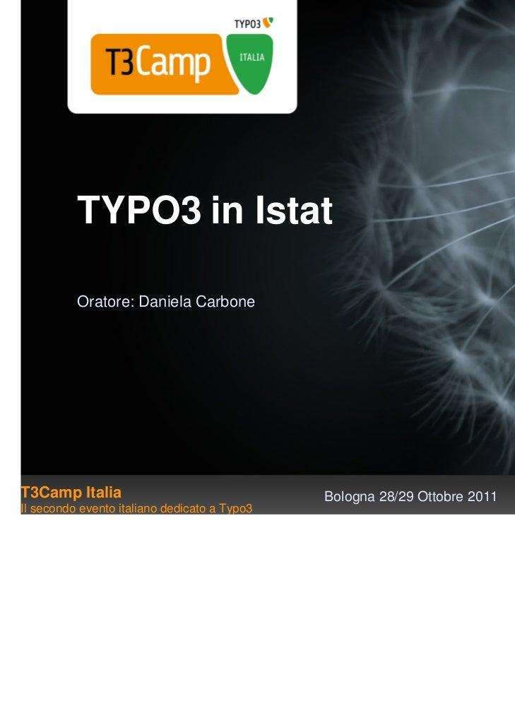 Typo3 inistat carbone