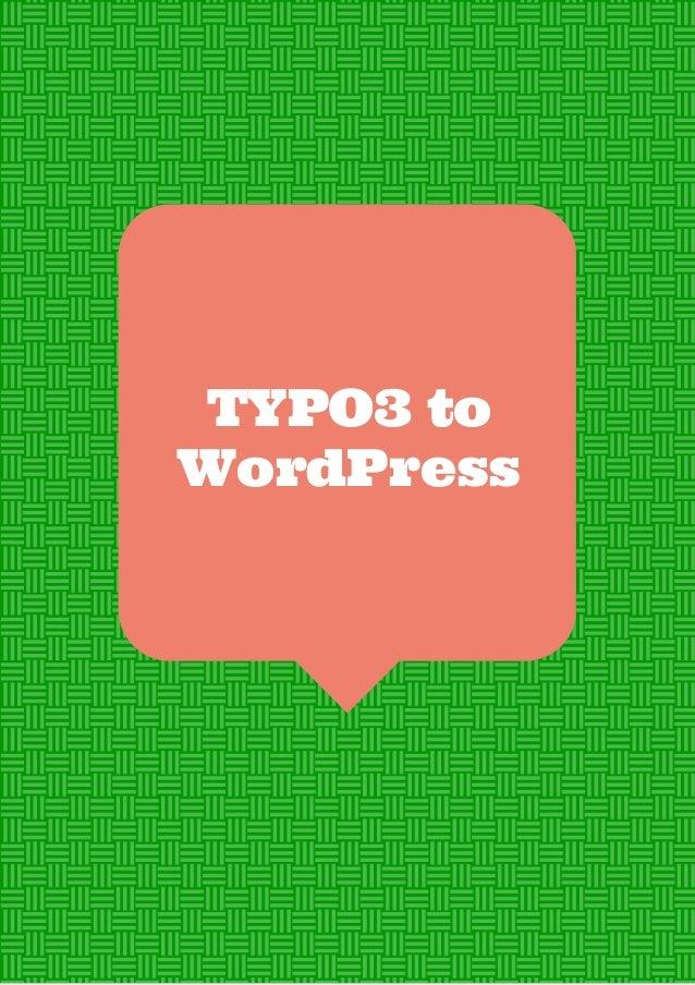 Typo3 to WordPress Automated Migration