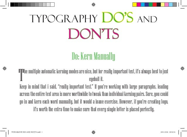 Typography dos and don'ts