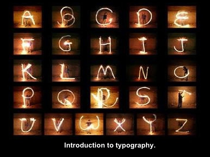 Introduction to typography.