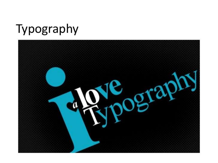 Typography ppt