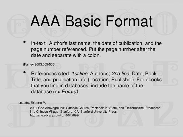 aaa bibliography