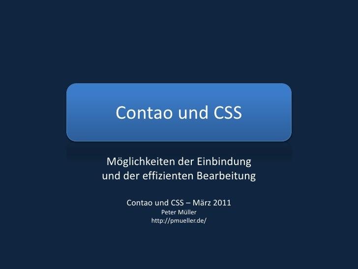 Contao und CSS