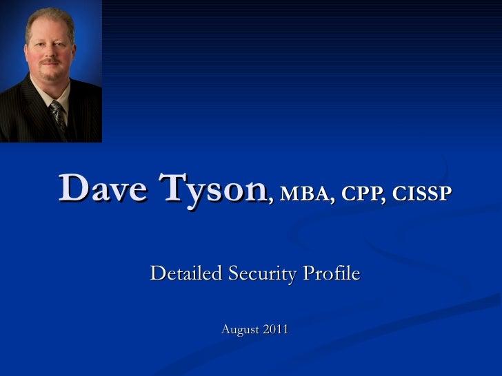 Dave Tyson Profile for CISO Insights
