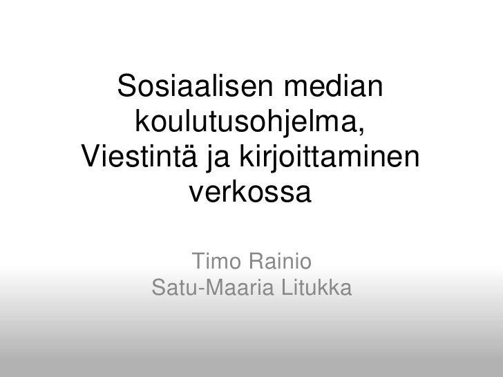 Tyt Some Koulutusohjelma Tampere201009 Rainio