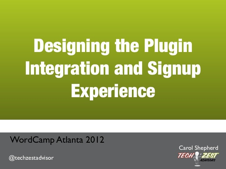 Designing the Plugin Integration and Signup Experience