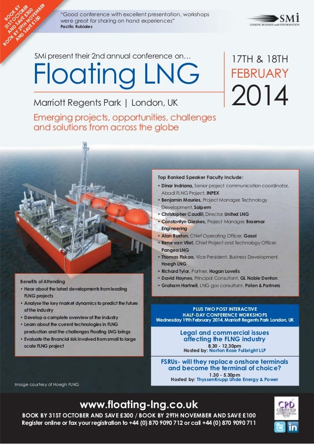 SMi Group's 2nd annual Floating LNG conference