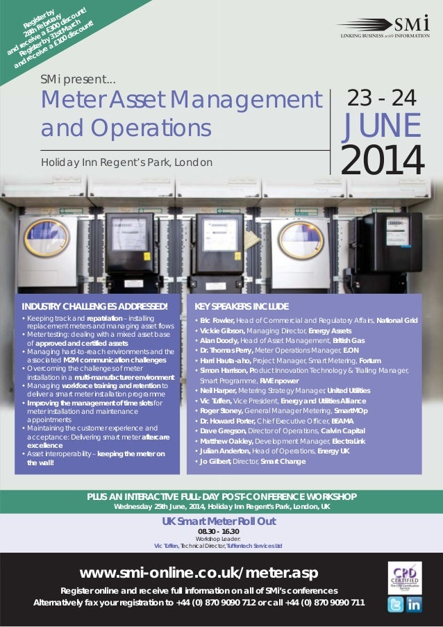 SMi Group's inaugural Meter Asset Management and Operations conference