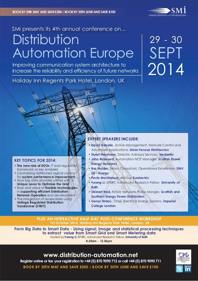 SMi Group's 4th annual Distribution Automation Europe