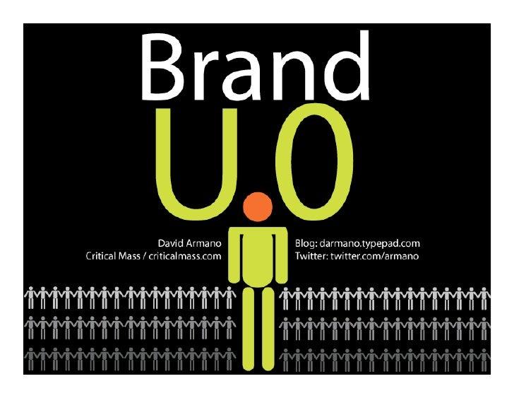 U.0 Personal Branding
