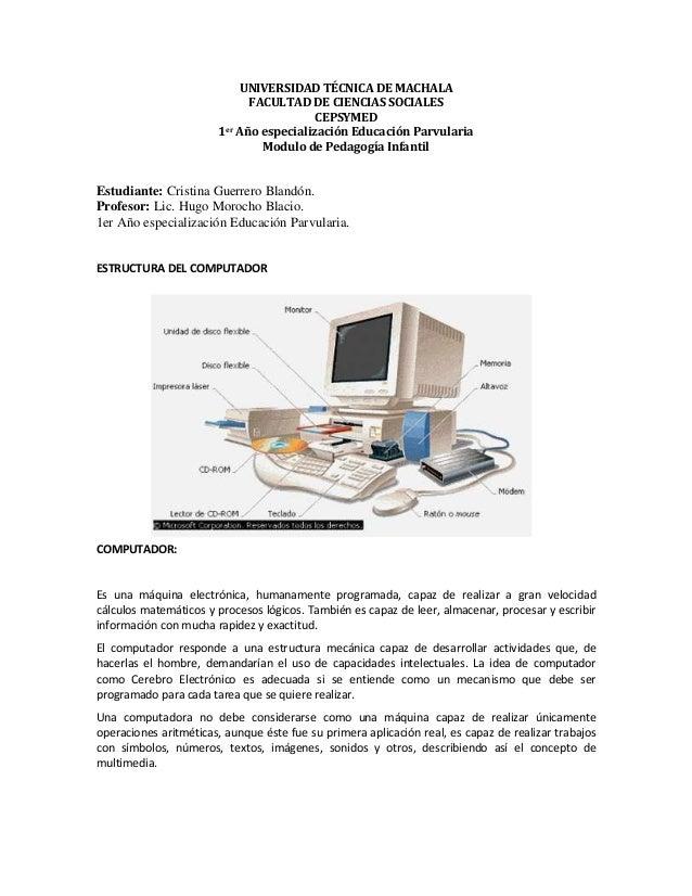 UNIVERSIDAD TÉCNICA DE MACHALA FACULTAD DE CIENCIAS SOCIALES CEPSYMED 1er Año especialización Educación Parvularia Modulo ...