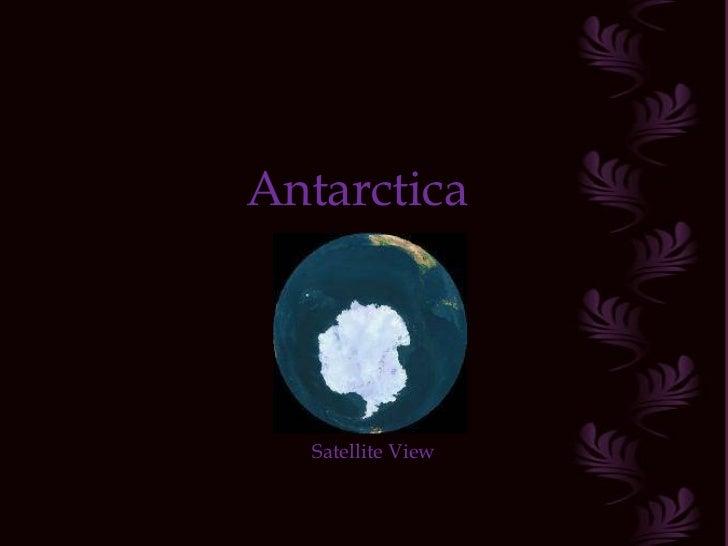 Antarctica Satellite View