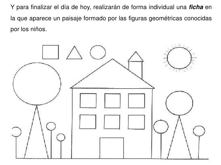 Paisajes dibujados con figuras geométricas - Imagui