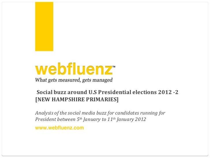 Social media buzz around U.S elections 2012 - 2 [NEW HAMPSHIRE PRIMARY]