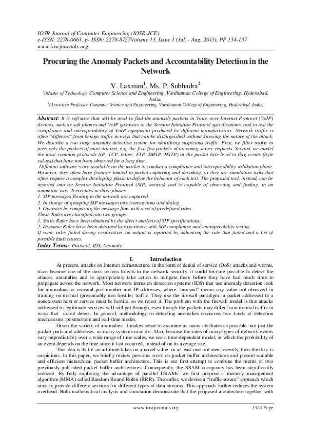IOSR Journal of Computer Engineering (IOSR-JCE) e-ISSN: 2278-0661, p- ISSN: 2278-8727Volume 13, Issue 1 (Jul. - Aug. 2013)...