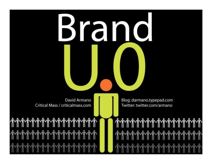 """Brand """"U.0"""""""