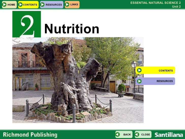 Nutrition CONTENTS RESOURCES