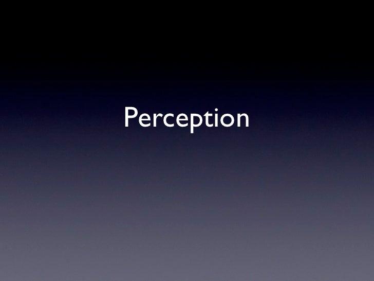 Perception Slides