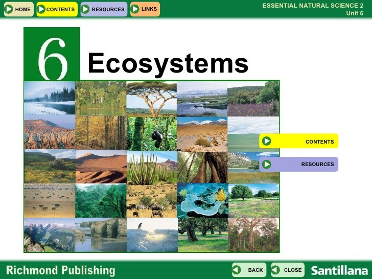 Ecosystems CONTENTS RESOURCES
