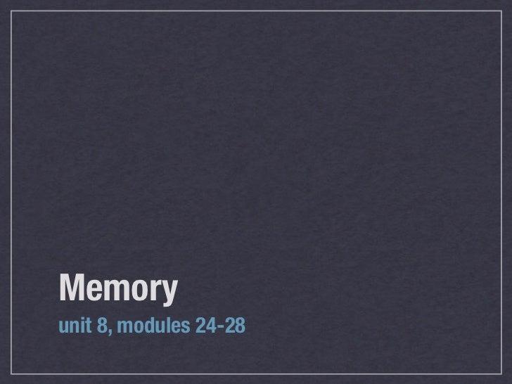Memoryunit 8, modules 24-28