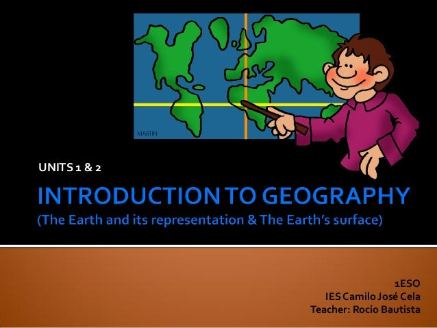 U1 2 introduction to geography