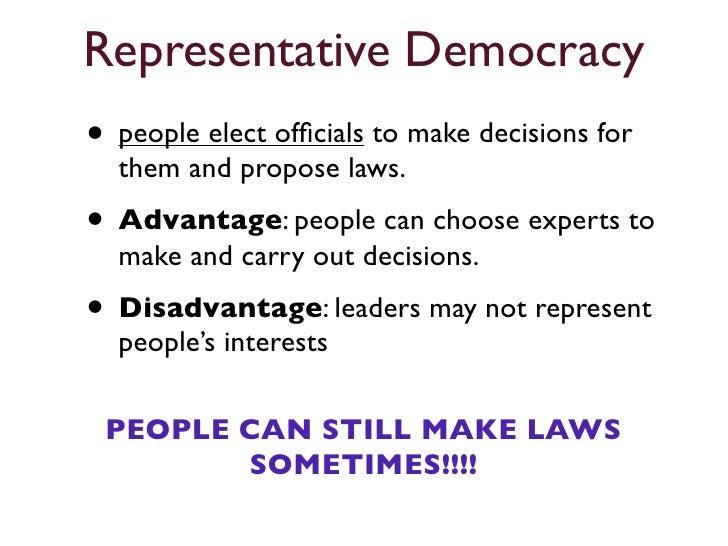 Representative Democracy Definition For Kids