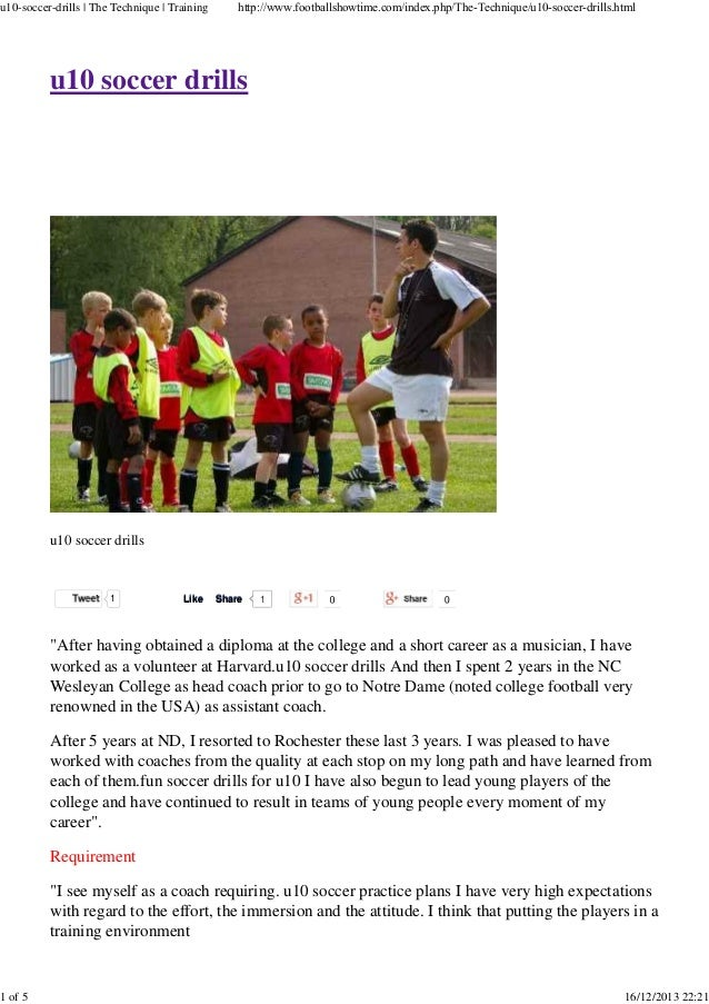 u10-soccer-drills | The Technique | Training  1 of 5  http://www.footballshowtime.com/index.php/The-Technique/u10-soccer-d...