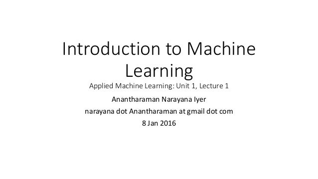 applied machine learning