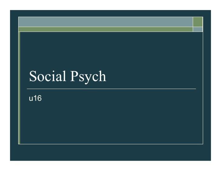 Social Psychu16