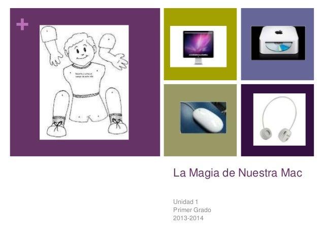 + La Magia de Nuestra Mac Unidad 1 Primer Grado 2013-2014