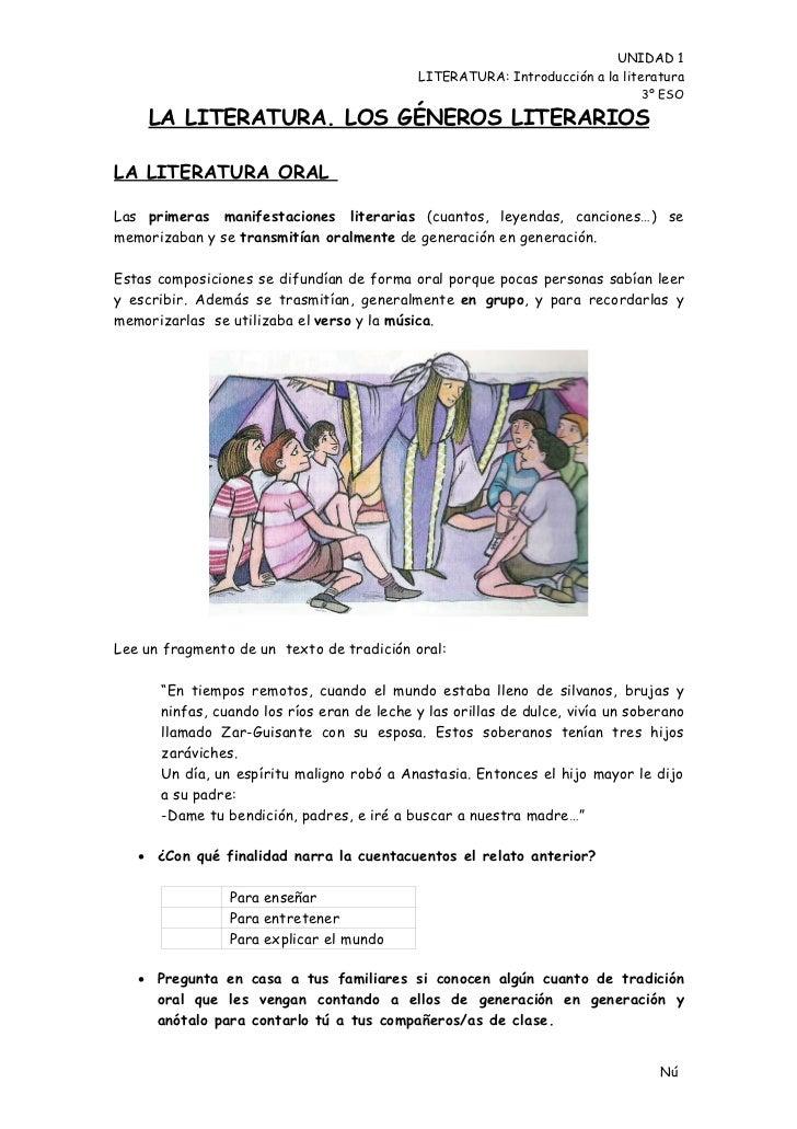 U1 literatura 3_eso_introduccion_a_la_literatura