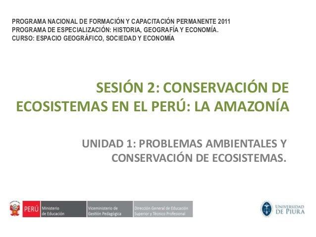 Conservación de Ecosistemas en el Perú: La Amazonia