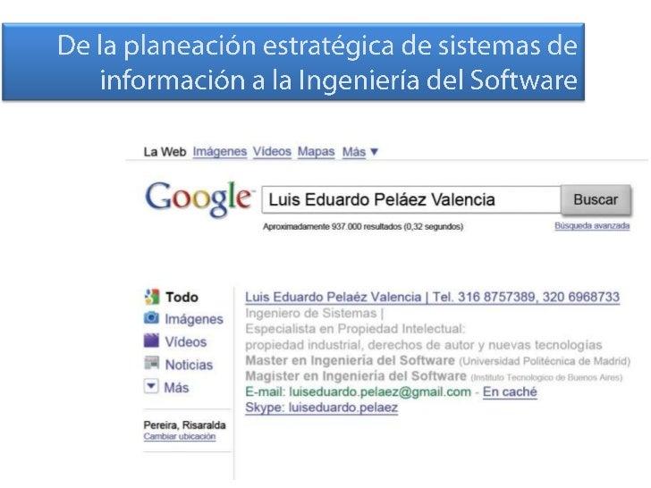 Planeación de Sistemas de Información