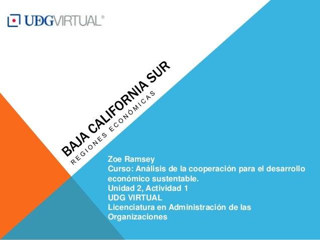Zoe Ramsey Curso: Análisis de la cooperación para el desarrollo económico sustentable. Unidad 2, Actividad 1 UDG VIRTUAL L...