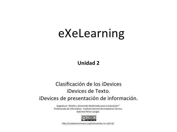 eXeLearning	                   	                            	                            	                        Unidad	 ...