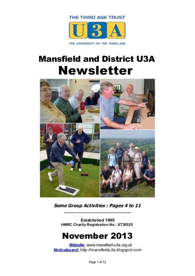 Mansfield U3A Newsletter: November 2013