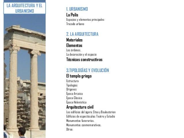 U4. arte griego (ii) urbanismo. arquitectura   características