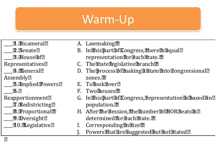 Warm-Up<br />