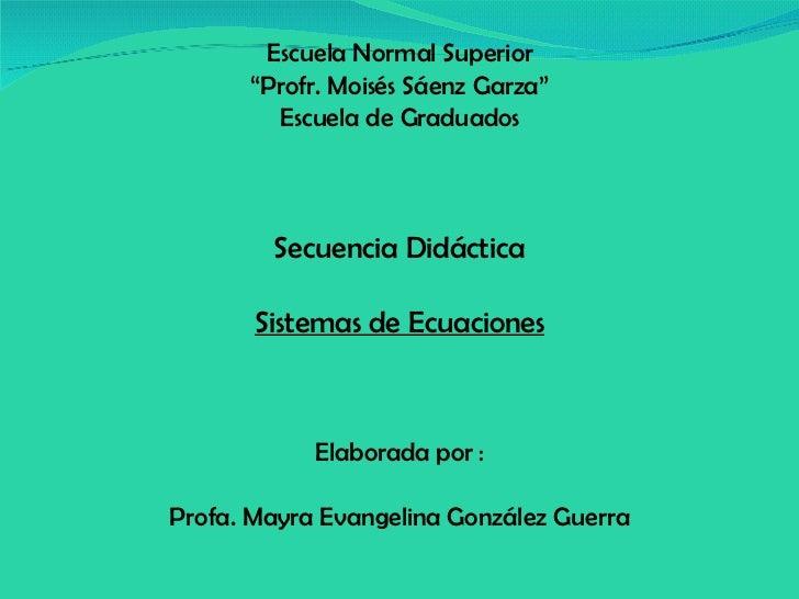 U5 T2 Sistemas de Ecuaciones