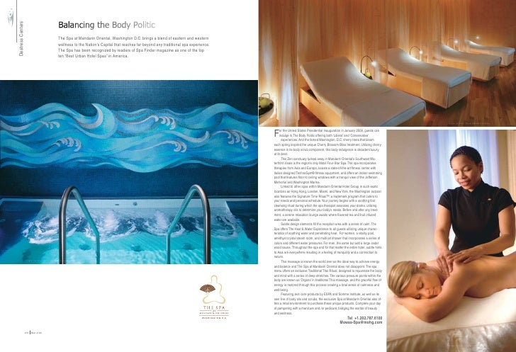 Balancing the Body Politic Destress Centers                                                       The Spa at Mandarin Orie...