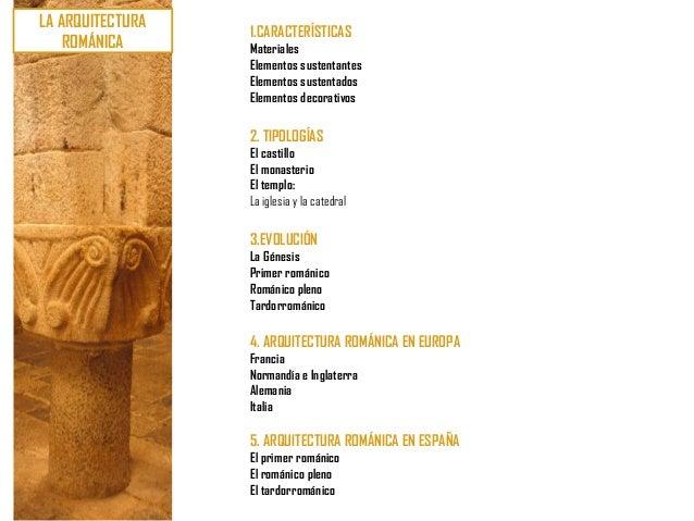 U8. arte románico (ii) arquitectura. características. tipologías. evolución