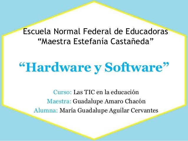 """Escuela Normal Federal de Educadoras """"Maestra Estefanía Castañeda"""" Curso: Las TIC en la educación Maestra: Guadalupe Amaro..."""
